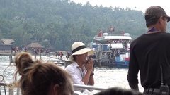 Ferry Service At Koh Tao Stock Footage