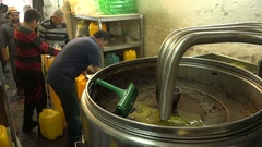 Olive oil factory in Ramallah in Palestinian Territories Stock Footage