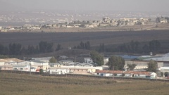 United Nations border post Israel Syria on Golan Heights Stock Footage