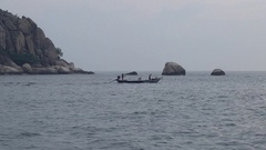 Boat eide at the island of Koh Tao Stock Footage