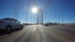 San Francisco Bay Bridge Car Mount Time Lapse Stock Footage