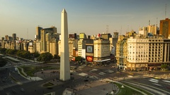 Time lapse of day traffic in Avenida 9 de Julio, center, Buenos Aires, Argentina Stock Footage