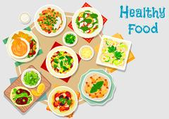 Hearty meal icon for dinner menu design Stock Illustration