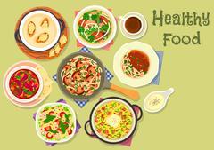 Tasty meals for dinner icon for recipe design Stock Illustration
