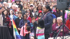 "Women's March rally, Jan 21, 2017. ""I am a citizen of this country!"" Stock Footage"