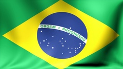 Brazil Flag. Background Seamless Looping Animation. 4K High Definition Video Stock Footage