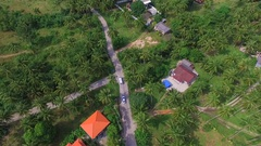Flying over Tropical Island. Life on Samui, Thailand. Aerial View Stock Footage