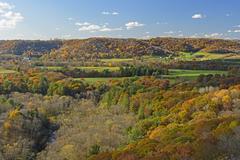 Wisconsin Farmland Countryside in the Fall Stock Photos