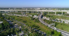 Aerial hyperlapse of a highway interchange Stock Footage