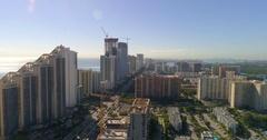 Aerial shot of Sunny Isles Beach FL Stock Footage