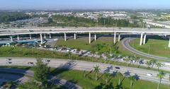 Aerial video of the Golden Glades Interchange Stock Footage