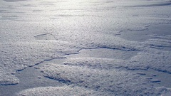 It sparkles in the sun. The boundless sea of snow. beautiful background Stock Footage