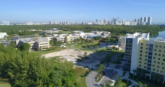 Aerial video Florida International University 4k 60p Stock Footage