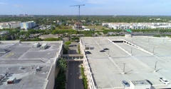 Aerial video of a mall parking garage Stock Footage