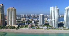 Drone aerial video Sunny Isles Beach Florida Stock Footage