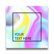 Poster with bright liquid ink. Modern style trends. Background for banner, card Stock Illustration
