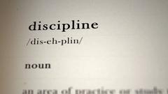 Discipline Definition Stock Footage