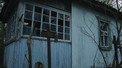 Building Abandoned by Chernobyl Npp Stock Footage