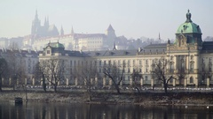 Buildings of the government in architectural structure in Prague Stock Footage