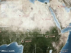 Africa   Central   Map   High Tech   Scanning   grey   SD Stock Footage