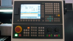 Industrial remote control panel of metal working manufactory Stock Footage