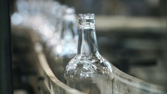 Technological process of bottles production Stock Footage