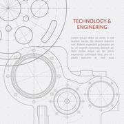 Abstract vector technology and engineering background with technical, mechanical Piirros