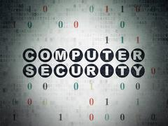 Safety concept: Computer Security on Digital Data Paper background Piirros