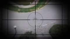 Sniper Scope, Flying on the City Stock Footage
