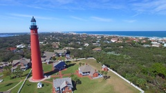 Ponce de Leon Inlet Lighthouse, Daytona Beach Stock Footage