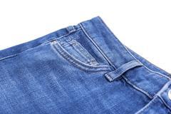 The pockets of denim pants. Stock Photos