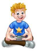 Video Game Gamer Piirros