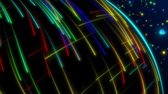 Abstract colorful spectrum light laser beam ray shooting background pattern Stock Footage