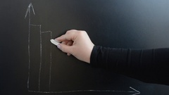 We draw business the schedule on a board. Stock Footage