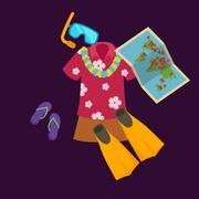Travel concept vector illustration, Tourism and vacation trip planning Piirros