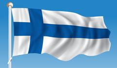 Flag of Finland Stock Illustration