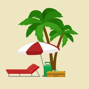 Traveling bag suitcase for trip or vocation, tourism icon baggage  voyage Stock Illustration