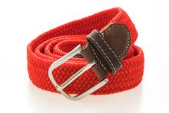 Fashion belt with buckle Stock Photos