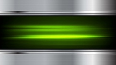 Green glowing stripes and metal video animation Stock Footage