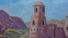 Painting Exhibition of paintings Stock Footage
