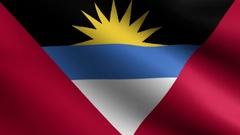 Antigua and Barbuda Flag. Seamless Looping Stock Footage