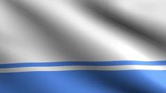 Altai Republic flag - Seamless loop Stock Footage