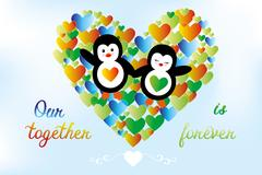 Our-together-is-forever Stock Illustration
