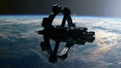 ISS. International Space Station Orbiting Earth Stock Footage