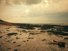 Time lapse. Seaford. Embankment English Channel. Stock Footage