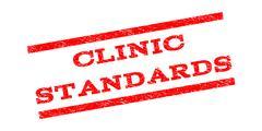 Clinic Standards Watermark Stamp Stock Illustration