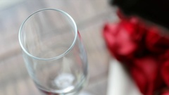 Champagne Pour From Above Stock Footage