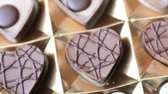 Rotating Box of Heart Shaped Chocolates Stock Footage