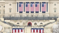 Presidential Inauguration at the U.S. Capitol Stock Footage