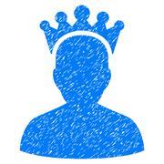 King Grainy Texture Icon Piirros